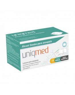 Álcool Swab para Assepsia (100 unidades) - Uniqmed