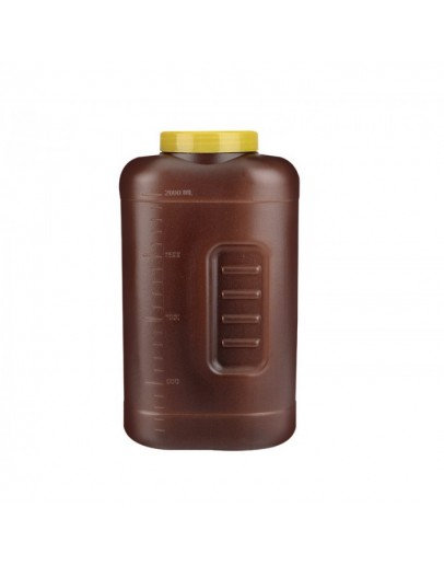 Coletor de Urina 24 horas Cor Ambar Tampa Amarela 2 litros - Cral