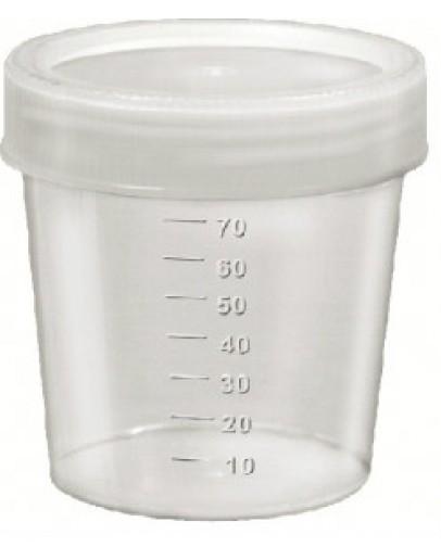 Coletor de Urina 80ml não Estéril com Pá Tampa Branca (100 unid) - J.Prolab
