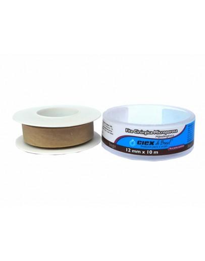 Fita Micropore Hipoalergênica 12mm x 10m Bege - Ciex
