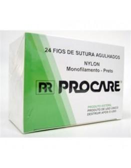 Fio de Sutura de Nylon 4.0 com Agulha 3/8 CT 3cm (24 unidades) - Procare