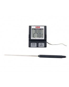 Termômetro Digital Portátil Tipo Espeto com Sonda e Faixa de Temperatura de -50°C a 200°C - Digitech